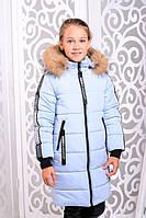 Зимняя детская куртка из плащевки