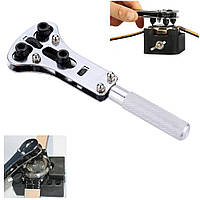 Ключ для снятия задней крышки часов с набором головок, открыватель для часов