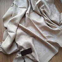 Палантин Louis Vuitton люрекс светлый беж Люкс, фото 1