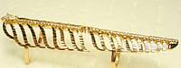 Кільце Позолота 18K на всю фалангу Пір'їнка подвійна фіксація 17 розмір, фото 1