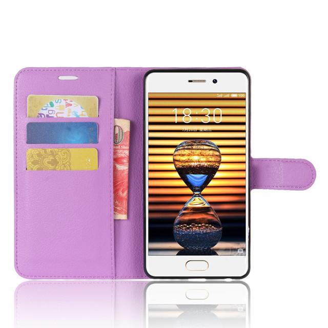 чехол книжка Meizu PRO 7 фиолетовый