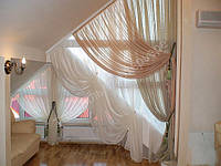 Легкие шторы для мансардных окон