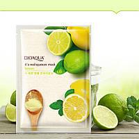 """Тканевая маска для лица с соком лимона """"BIOAQUA"""", фото 1"""
