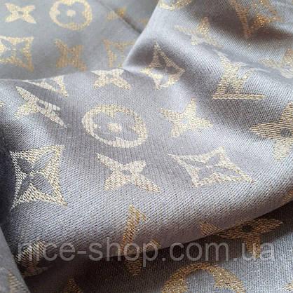 Палантин Louis Vuitton люрекс серый, фото 2