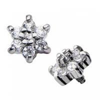 Накрутка на микродермал титановая цветочек кристалл 138701