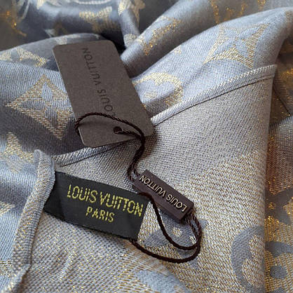 Палантин Louis Vuitton люрекс серый, фото 3