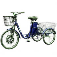 Электровелосипед (трицикл) Vega Happy (350 Вт, 36 В, реверс) blue