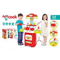 Детская игровая кухня Fun Cook 889-52 плита посуда продукты звук свет