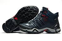 Зимние кроссовки Adidas Fastr TEX, мужские темно-синие, на меху, р. 42