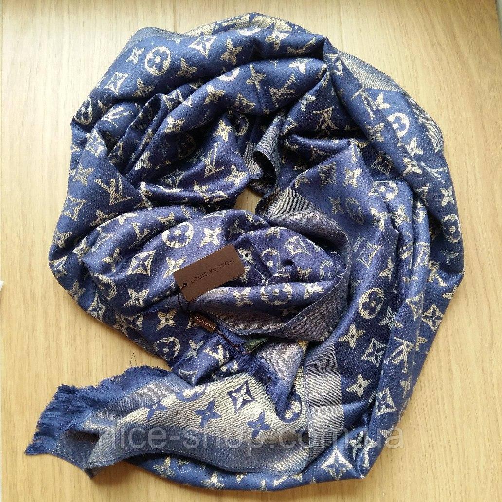 Палантин Louis Vuitton люрекс синий