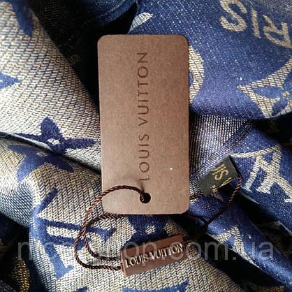 Палантин Louis Vuitton люрекс синий, фото 2