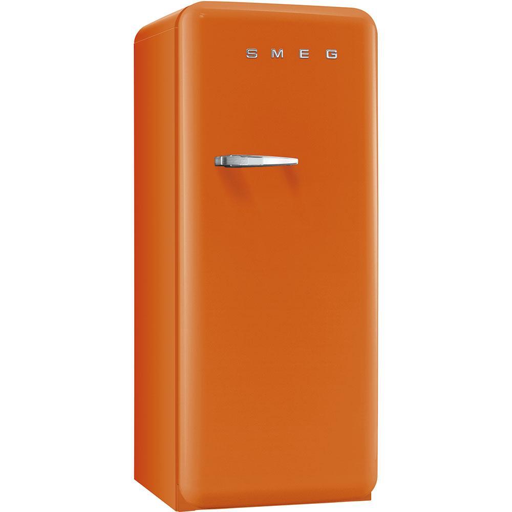 Отдельностоящий однодверный холодильник, стиль 50-х годов Smeg FAB28ROR3 оранжевый
