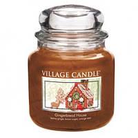 """Ароматическая свеча в стекле Village Candle """"Пряничный домик"""". 455 гр/ 105 часов"""