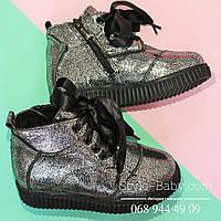 Кожаные зимние ботинки для девочки тм Олтея р.27,28,29,30,31