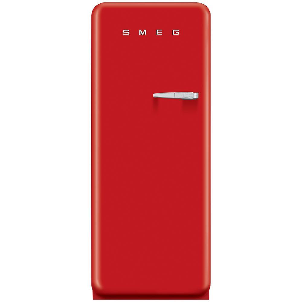 Отдельностоящий однодверный холодильник, стиль 50-х годов Smeg FAB28LRD3 красный