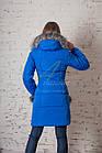 Молодежное пальто с мехом для женщин сезона зима 2017-2018 - (модель кт-93), фото 3