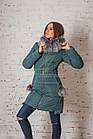 Молодежное пальто с мехом для женщин сезона зима 2017-2018 - (модель кт-93), фото 5