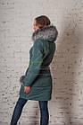 Молодежное пальто с мехом для женщин сезона зима 2017-2018 - (модель кт-93), фото 6