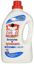 Стиральный порошок жидкий с дезинфекцией Omino Bianco Detersivo + Igienizzante 25 стирок 1,8 л.