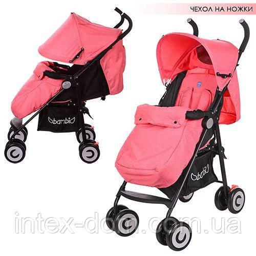 Детская коляска-трость Bambi (M 3458-3) с пятиточечными ремнями безопасности