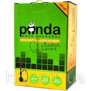 Уголь Panda для кальяна кокосовый 1 кг (зеленая) 120 угольков (в коробке)