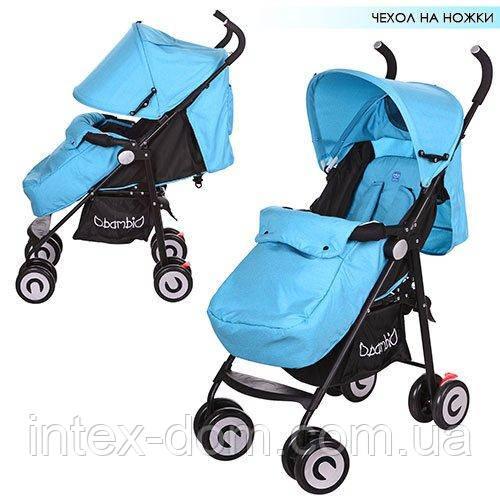 Детская коляска-трость Bambi (M 3458-12) с усиленными колесами