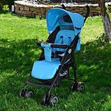 Дитяча коляска-тростина Bambi (M 3458-12) з посиленими колесами, фото 3