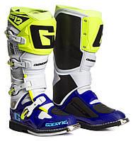 Мотоботинки кроссовые Gaerne SG-12 сине-бело-желтые, 43