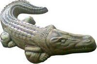 Форма из АВС пластика для малой архитектуры. Форма крокодил