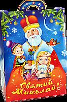 """Упаковка праздничная """"Домик Святой Николай"""" для конфет 400-500 г"""