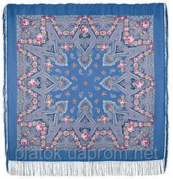 Мгновение 1106-13, павлопосадский платок шерстяной с шелковой бахромой