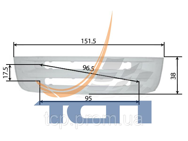 Решетка нижняя h=38 SCANIA 5R T660008 ТСП