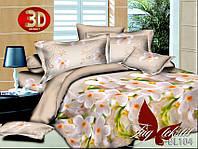 Комплект постельного белья из полисатина евроразмера 200х220 PS-BL104