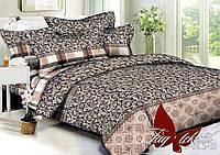 Комплект постельного белья из полисатина евроразмера 200х220 BL143