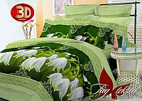 Комплект постельного белья из полисатина евроразмера200х220 PS-BL101