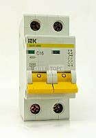 Автоматический выключатель IEK Автоматический выключатель IEK ВА 47-29 2п 16А 4,5кА хар С (6)