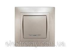 Выключатель с подсветкой Luxel Bravo антрацит