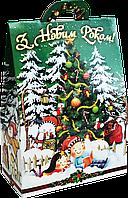"""Упаковка новогодняя """"Хатинка Лісова Магія"""" для сладостей 400-500 г"""