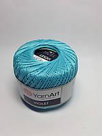 Пряжа Violet - цвет бирюзовый