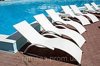 Шезлонг Змей, Лежак, белый - мебель для бассейна, мебель для сада, мебель для отдыха