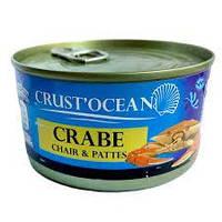 КРАБОВОЕ МЯСО CRUST'OCEAN CRABE CHAIR & PATTES, 170Г
