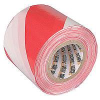 Лента сигнальная 75 мм красно-белая 100 м N20807020