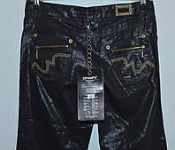 Женские джинсы черные лен полировка ESPARANTO