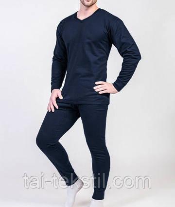 Мужское темно-синее нательное белье отличного качества 100% хлопок пр-во Турция