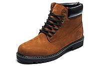 Ботинки зимние мужские Timberland, нубук, рыжие, натуральная кожа, р. 41 42 43 44 45