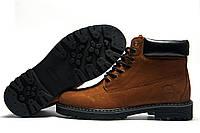 Ботинки зимние мужские Timberland, нубук, рыжие, натуральная кожа, р. 41 42 43 44