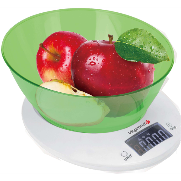 Весы кухонные 5 кг. ViLgrand  VKS-533С_green