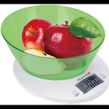 Весы кухонные 5 кг. ViLgrand  VKS-533С_green, фото 2