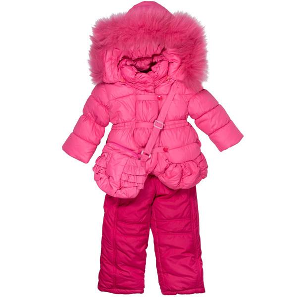 Детский зимний комбинезон в комплекте сумочка