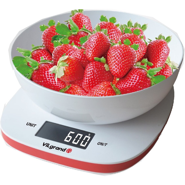 Весы кухонные 5 кг. ViLgrand  VKS-517_white